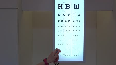 ophthalmologist shows eyesight test chart for eye tests