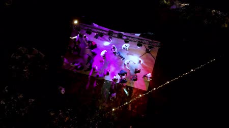 festividades : Aerial shot wedding party. Dance and entertainment. Vídeos