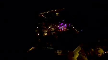 вспышка : Aerial shot wedding party. Dance and entertainment. Стоковые видеозаписи