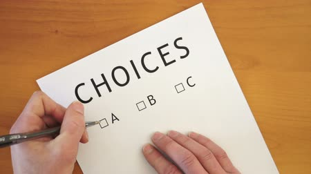 rota : The Choices on the List