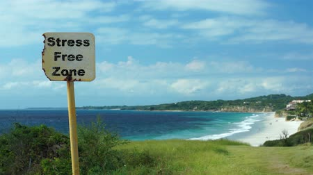 stres : Beach Sign Stress Free Zone