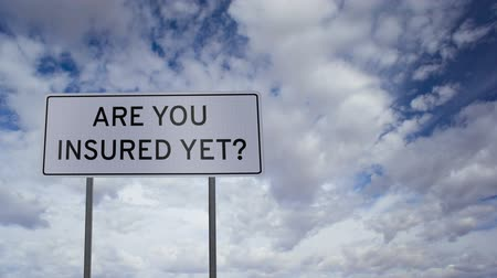 pojistka : Sign Insured Yet Clouds Timelapse
