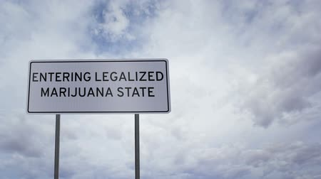 zmiany : Sign Legalized Marijuana State Clouds Timelapse