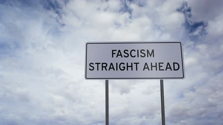 authoritarian state : Sign Fascism Clouds Timlapse