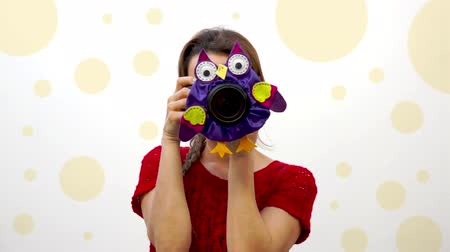 loutka : Woman Child Photographer Owl Puppet