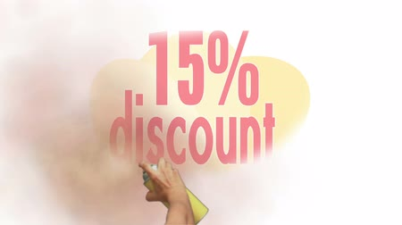 barganha : 15 Percent Discount Spray Painting Stock Footage