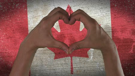 kanadai : Hands Heart Symbol Canadian Flag