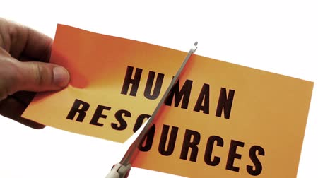 recursos : Cutting Human Resources Business Concept