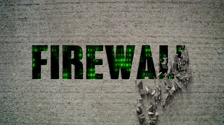 istatistik : Firewall Crumbling Wall Stok Video