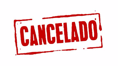 cancelado : Red Rubber Stamp Cancelled Spanish
