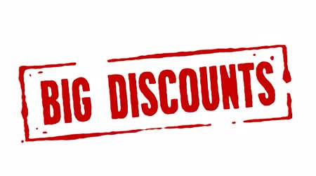 logotipo : Big Discounts Red Stamp Transition