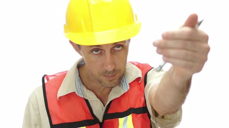 supervisor : Male Tradesman Boss Hand Signal