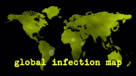 epidemia : Yellow Global Infection Map Epidemic
