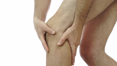 мышцы : Male Rubs His Knee Joint Pain
