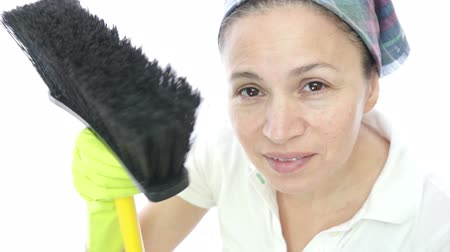 домохозяйка : Woman Housework Brush Camera