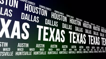 teksas : Texas State and Major Cities Scrolling Banner