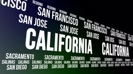 состояние : California State and Major Cities Scrolling Banner