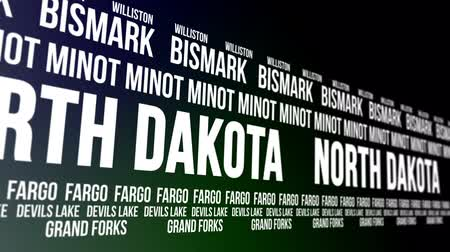 garfos : North Dakota State and Major Cities Scrolling Banner