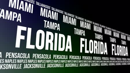 nápoles : Florida State and Major Cities Scrolling Banner Vídeos