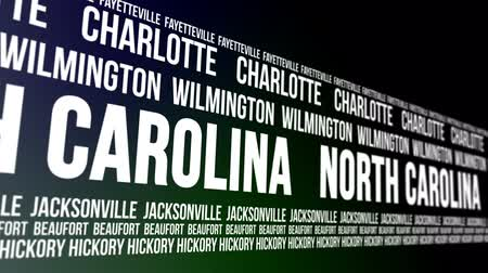 hickory : North Carolina State and Major Cities Scrolling Banner