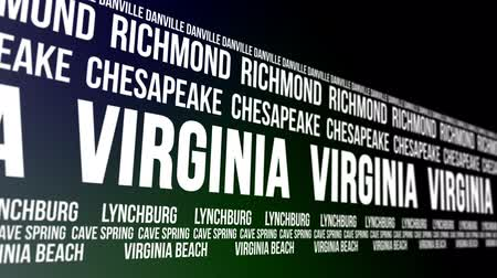 richmond : Virginia State and Major Cities Scrolling Banner