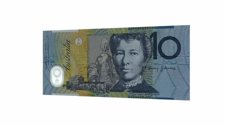 australiano : Dieci Dollaro australiano Bill Rotating