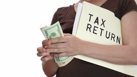 impostos : Tax Return Counting Money Stock Footage