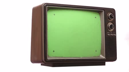tv screen : Retro TV Greenscreen Turning Slow