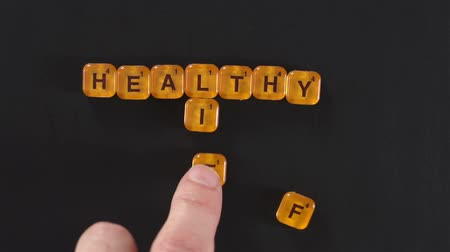 vida : Letter Blocks Spelling Healthy Life