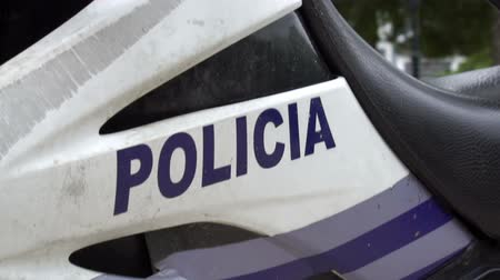 motor vehicle : Police Motorbike and Lights Spanish