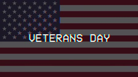 Veterans Day, Ehrung aller, die gedient haben, USA-Flagge, HD-Animation, Web-4K-Banner. Videos