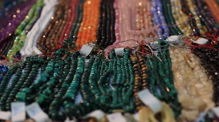 bugiganga : Beads jewellery displayed in a shop