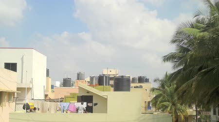 bangalore : Sunny day sky time-lapse, zooming in shot