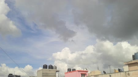 bangalore : Afternoon sky time-lapse, Bottom to top panning Stock Footage