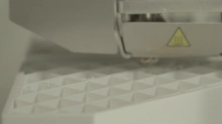 mekanizma : 3D printer during printing close-up. Stok Video