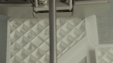 technics : 3D printer during printing close-up. Stock Footage