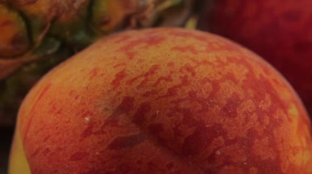 foetus : Ants on fruit. Close-up. Macro Stockvideo