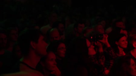 humanity : The audience at the concert. Slow motion