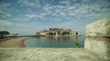 balkan : Sveti Stefan is a tourist town by the sea. Montenegro. Day