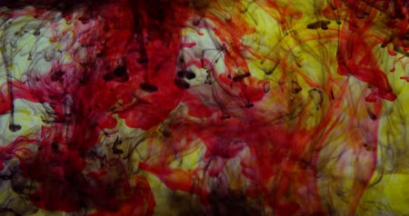 yellow ink : Multicolored Ink in Water HD