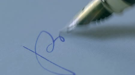 assinatura : Signature on a piece of paper
