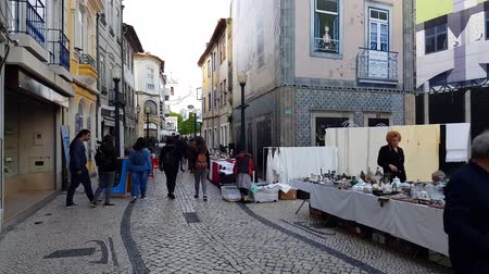 collectible : Aveiro, Portugal - April 2018: Monthly street flea market in Aveiro, Portugal