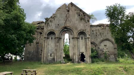 chapel : Artvin, Turkey - July 2018: Ruins of old Tibetan Monastery and church in Cevizli village, Savsat, Artvin, Turkey
