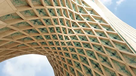 teheran : Tehran, Iran - April 2019: Architecture details of Azadi Tower in Azadi square in the Iranian capital Tehran