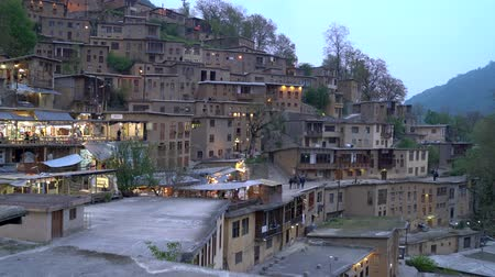 persie : Masuleh, Iran - May 2019: Houses in traditional village of Masuleh in Gilan province Dostupné videozáznamy
