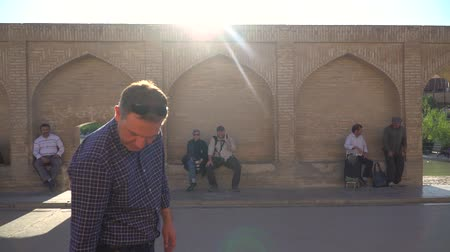 Аллах : Isfahan, Iran - May 2019: SioSe Pol or Bridge of 33 arches, one of the oldest bridges of Esfahan and longest bridge on Zayandeh River