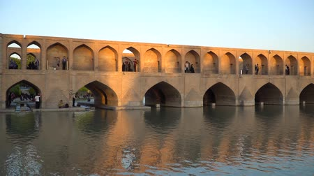isfahan : Isfahan, Iran - May 2019: SioSe Pol or Bridge of 33 arches, one of the oldest bridges of Esfahan and longest bridge on Zayandeh River