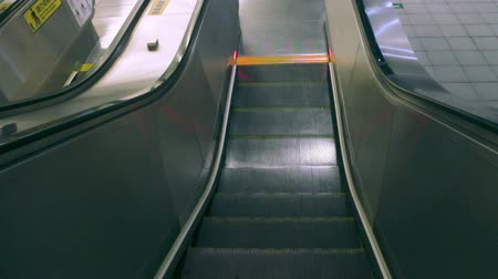 otis : Taipei Taiwan ROC February 09 2015: Taipei Metro East Gate Station Close up of the Escalator. Stock Footage