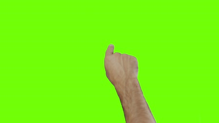 musluk : Touchsrcean gestures of a masculin male hand on green screen