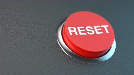 szervez : Beautiful animation from left to right red button symbolizing reset